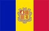Abbild der Flagge von Andorra