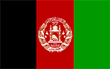 Abbild der Flagge von Afghanistan