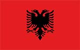 Abbild der Flagge von Albanien