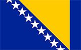 Abbild der Flagge von Bosnien und Herzegowina