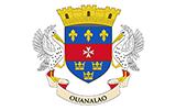 Abbild der Flagge von Saint-Barthélemy