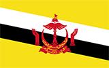 Abbild der Flagge von Brunei Darussalam