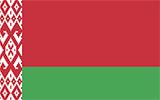 Abbild der Flagge von Belarus