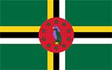 Abbild der Flagge von Dominica