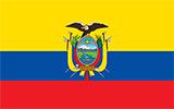 Abbild der Flagge von Ecuador