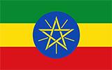 Abbild der Flagge von Äthiopien