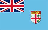 Abbild der Flagge von Fidschi