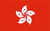Abbild der Flagge von Hongkong
