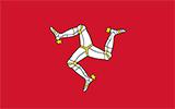 Abbild der Flagge von Insel Man