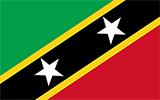 Abbild der Flagge von St. Kitts und Nevis