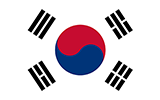 Abbild der Flagge von Südkorea