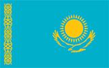 Abbild der Flagge von Kasachstan