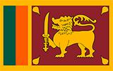 Abbild der Flagge von Sri Lanka