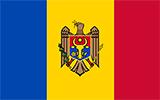 Abbild der Flagge von Moldawien