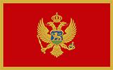 Abbild der Flagge von Montenegro