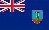 Abbild der Flagge von Montserrat