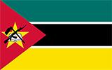 Abbild der Flagge von Mosambik