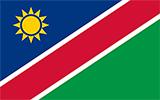 Abbild der Flagge von Namibia