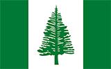 Abbild der Flagge von Norfolkinsel