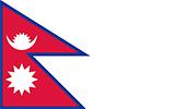 Abbild der Flagge von Nepal
