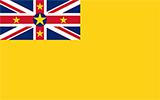 Abbild der Flagge von Niue