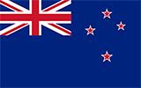 Abbild der Flagge von Neuseeland
