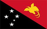 Abbild der Flagge von Papua-Neuguinea