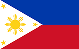 Abbild der Flagge von Philippinen