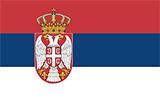 Abbild der Flagge von Serbien
