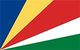 Abbild der Flagge von Seychellen