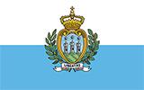 Abbild der Flagge von San Marino
