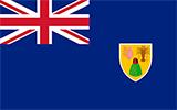 Abbild der Flagge von Turks- und Caicosinseln
