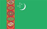Abbild der Flagge von Turkmenistan