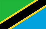 Abbild der Flagge von Tansania