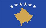 Abbild der Flagge von Kosovo
