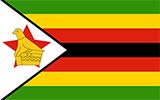 Abbild der Flagge von Simbabwe
